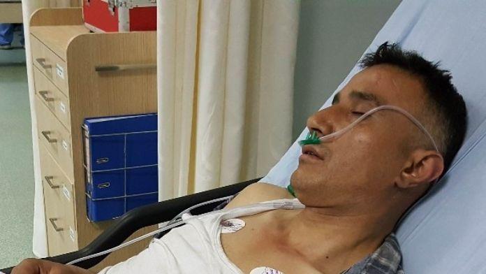 Bastığı Kartonpiyer Çökünce Düşerek Hastanelik Oldu