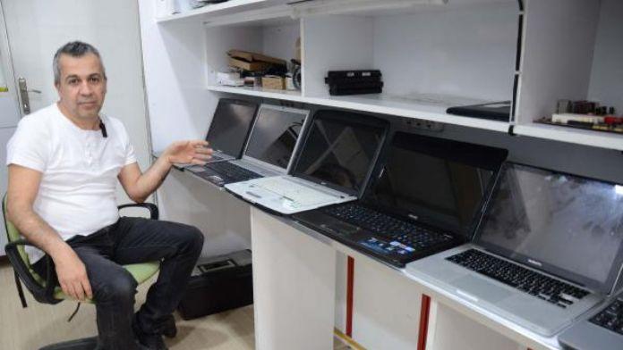 Tamiri yapılan bilgisayarlar sahiplerini bekliyor
