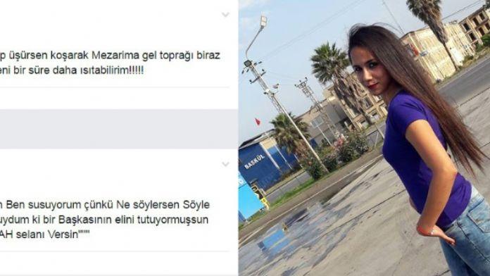 Ağabeyinin öldürdüğü Özgecan'dan 'ölüm' paylaşmı