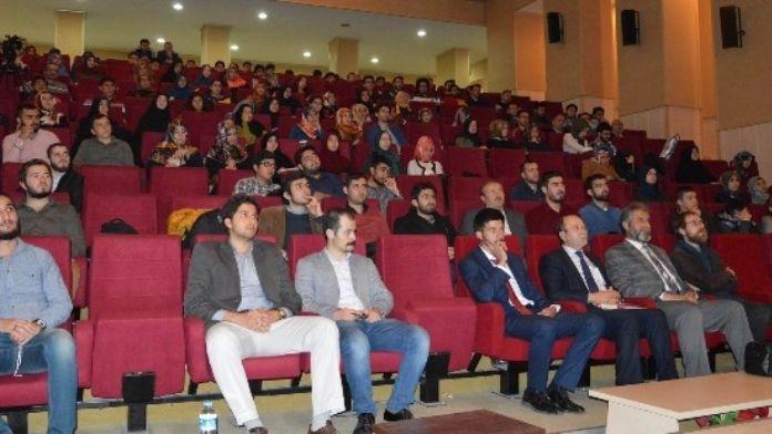 Gazeteci-yazar Yusuf Kaplan ERÜ' De Konferans Verdi