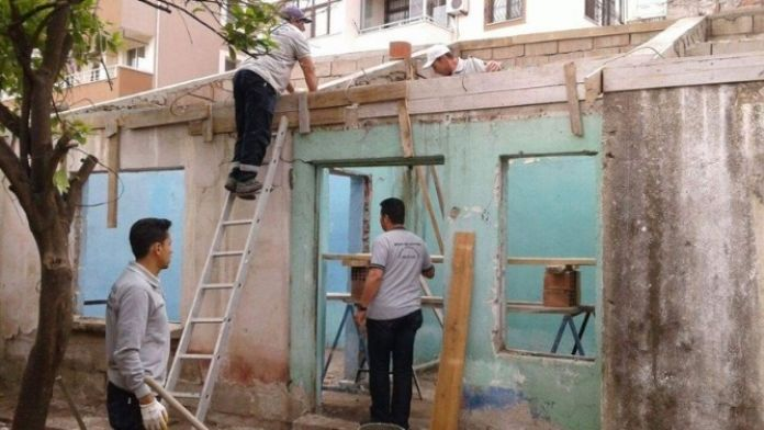 Milas'ta Çöp Evde Tadilat Başladı