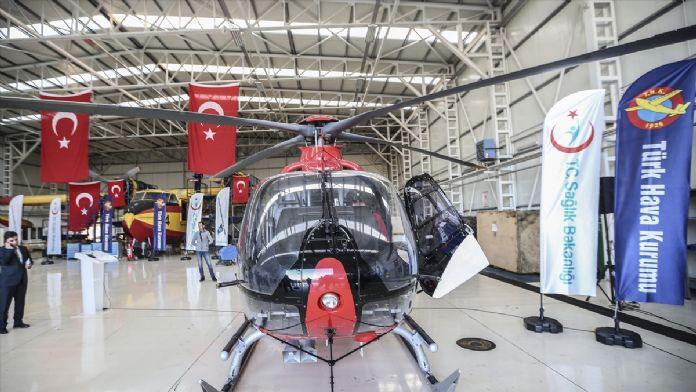 'Gece görüş sistemli' helikopter ambulans hasta nakline başladı