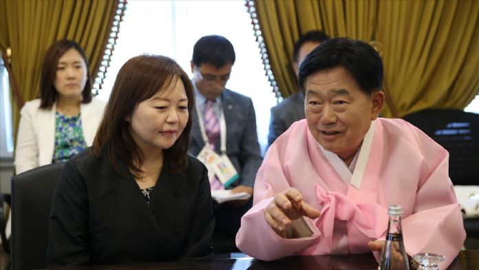 EXPO'daki 'Güney Kore Bahçesi'nin açılışı yapıldı
