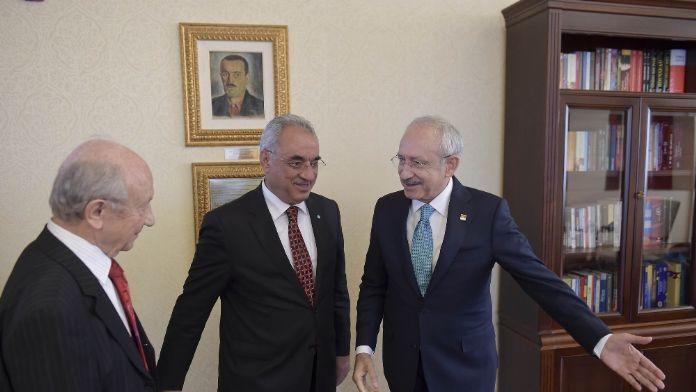 CHP lideri DSP lideriyle görüştü