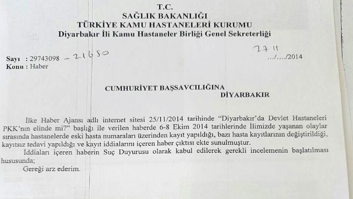 'Teröristlere devlet hastanesi kıyağı' iddiasına yalanlama