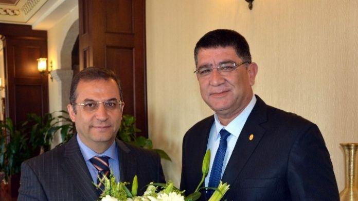 Aesob Başkanı'nın İlk Ziyareti Antalya Valisi Muammer Türker'e