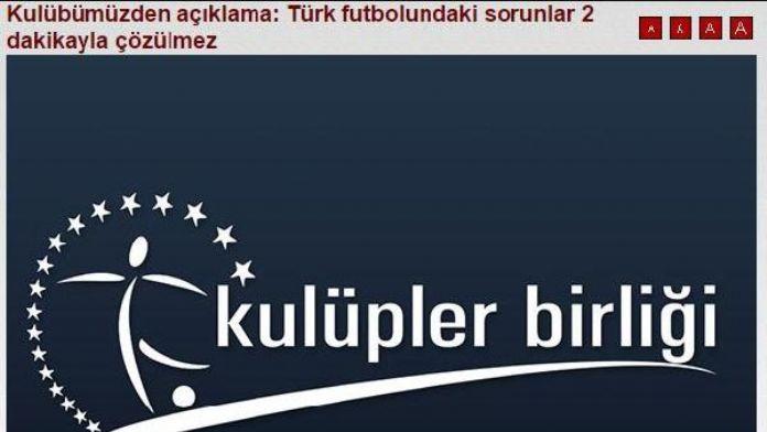 Trabzonspor'dan açıklama: Türk futbolundaki sorunlar 2 dakikayla çözülmez