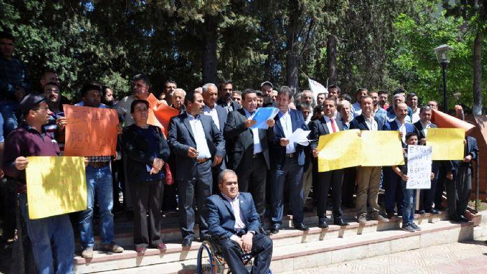 Adıyaman'da ulusal market zincirlerine protesto