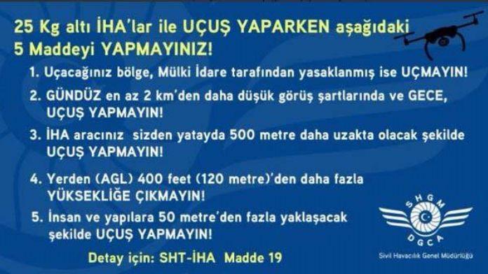 İHA'lar artık kayıt altında, yapmayanlara 17 bin lira ceza
