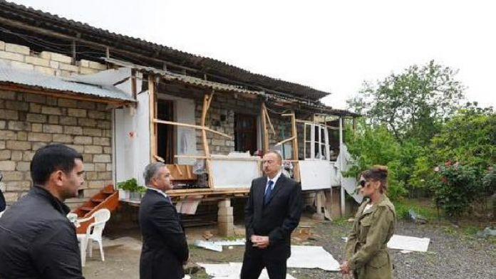 Cumhurbaşkanı Aliyev, Ermenistan Cephe Hattında
