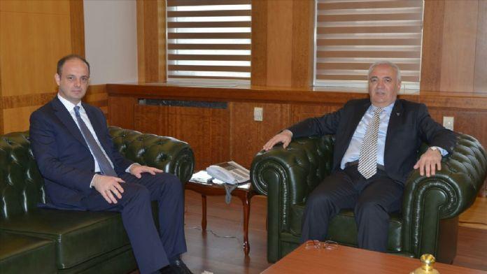 Merkez Bankası Başkanı Çetinkaya'dan Bakan Elitaş'a ziyaret