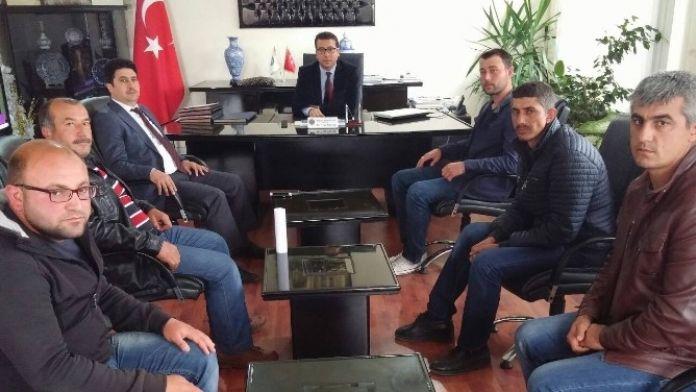 İşçiler, Kaymakam Davut Bayraktar'ı Ziyaret Etti