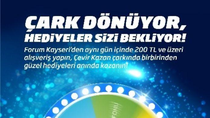 Forum Kayseri'de Çarkı Çeviren Kazanıyor