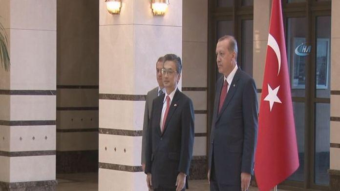 Erdoğan Japon büyükelçiyi kabul etti
