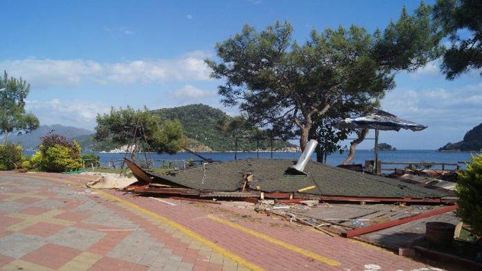 Büfenin çatısı çöktü: 1 ölü, 1 yaralı