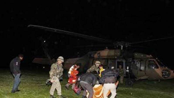 Emekli Geçici Köy Korucusu Helikopterle Hastaneye Tahliye Edildi