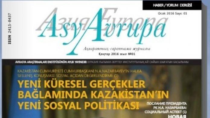 Avrasya Araştırma Enstitüsünden 'Asya-avrupa: Haber-yorum' Dergisi