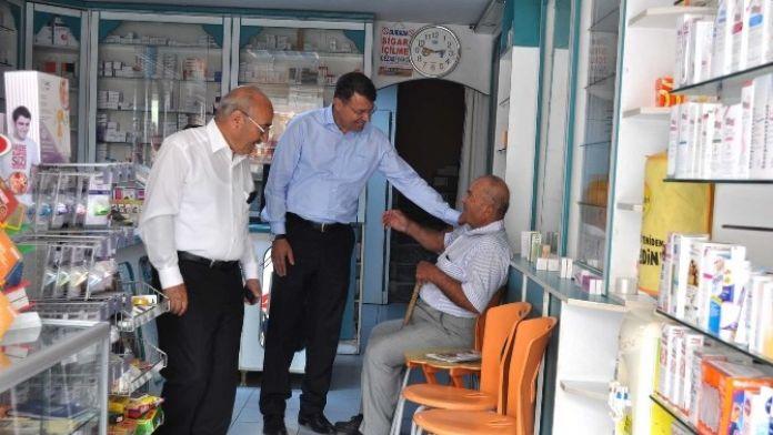 Başkan Turgut, Esnafı Ziyaret Etti
