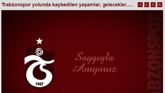 Trabzonspor, 20 yıl önce intihar eden 2 taraftarını unutmadı (YENİDEN)