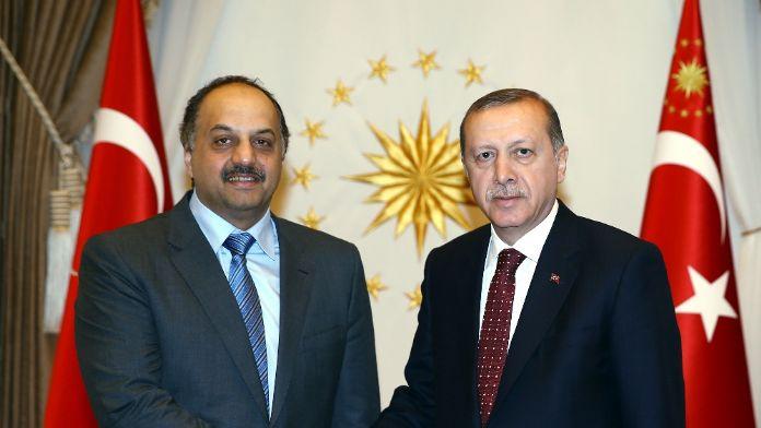 Erdoğan Katarlı Bakanla görüştü