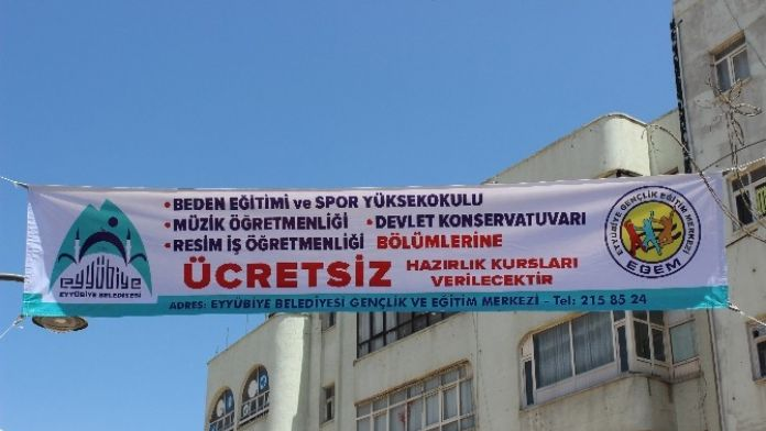 Eyyübiye Belediyesinden Ücretsiz Yetenek Kursu