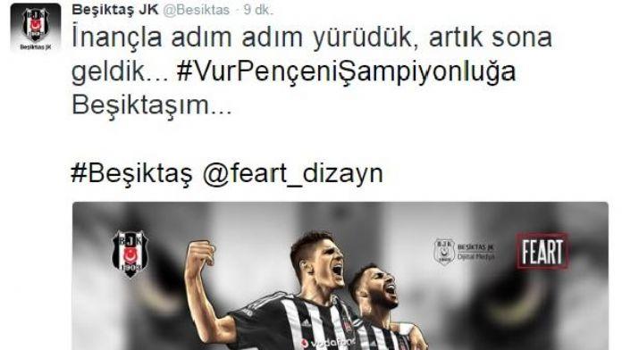 Beşiktaş Kulübü: 'Vur pençeni şampiyonluğa Beşiktaşım'