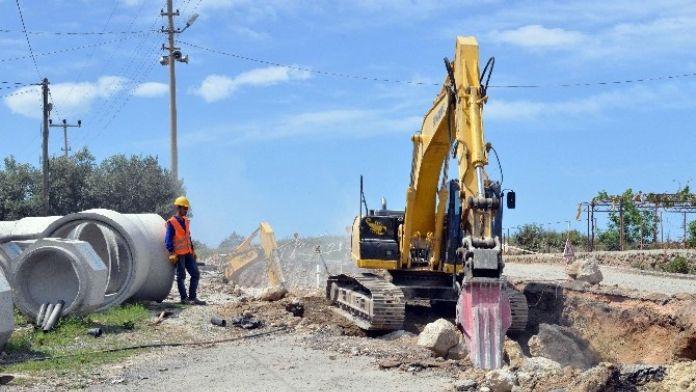 Alanya'da Kanalizasyon Çalışmaları