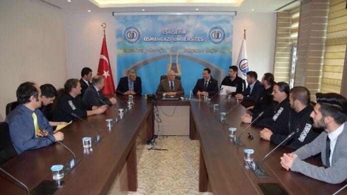 Macaristan Türk-macar Turan Vakfı Başkanı ESOGÜ Rektörünü Ziyaret Etti