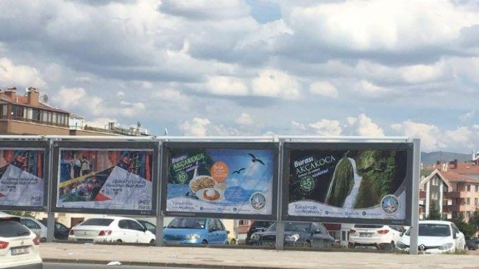 Ankara'daki Bilboardlarda Akçakoca Tanıtım Rüzgarı Esiyor