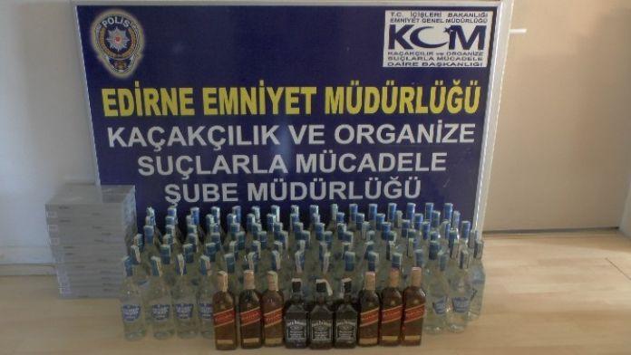 Edirne'de Kaçak İçki Ve Sigara Operasyonu
