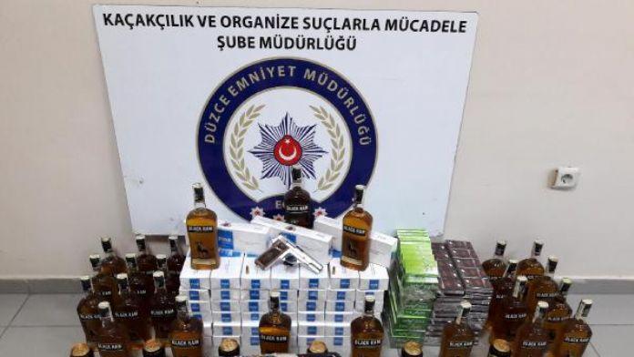 Düzce'de kaçak akaryakıt ve sigara operasyonu: 2 gözaltı