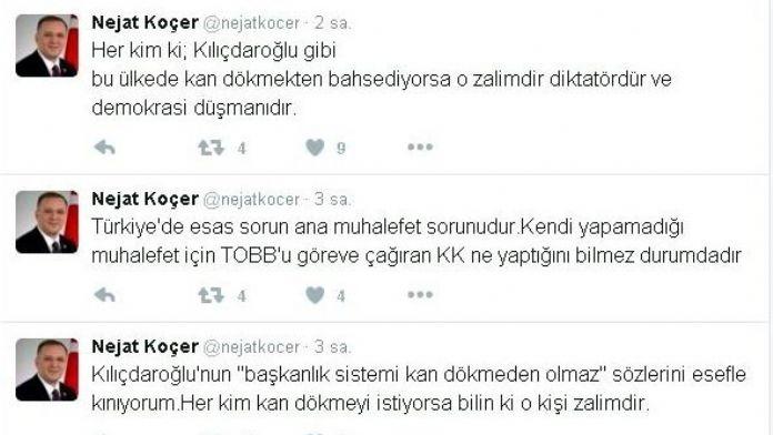 Milletvekili Koçer'den, Kemal Kılıçdaroğlu'na Tepki