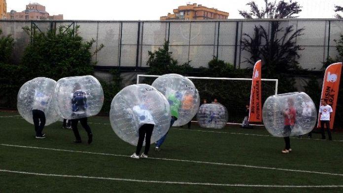 Ankara'da Big Bubble Futbol Tanıtımı