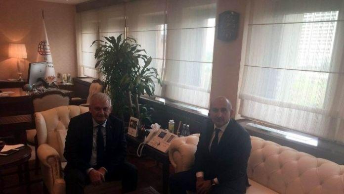 Belediye Başkanı Kara, Bakan Yıldırım'ı Ziyaret Etti