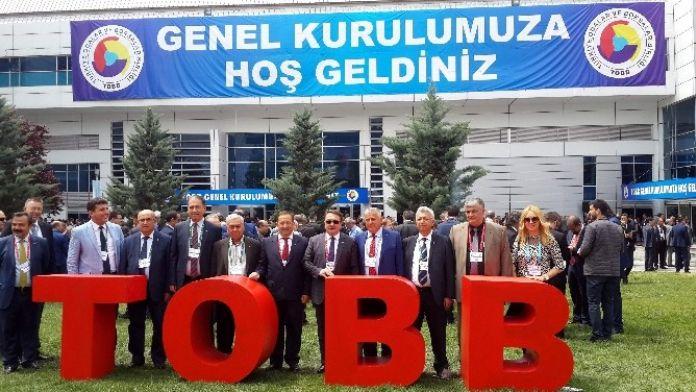 Aydın Ticaret Borsası 72. TOBB Genel Kuruluna Katıldı