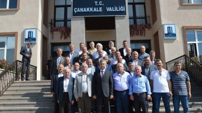 Düzceli Muhtarlar Çanakkale Valiliğini Ziyaret Etti