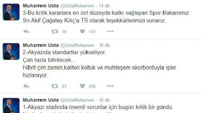 Trabzonspor Başkanı Usta: 'Stattaki sorunlar geride kaldı'