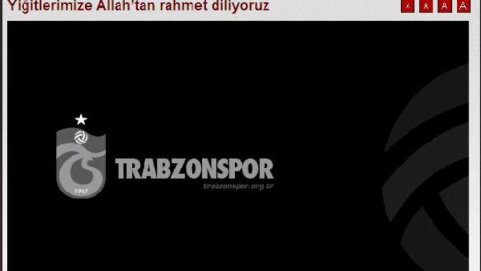 Trabzonspor, şehitler için mesaj yayınladı