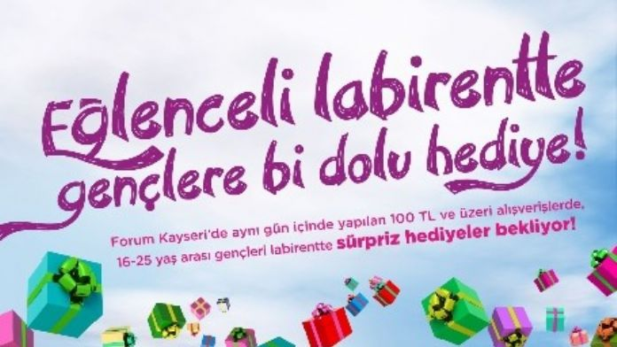Forum Kayseri'de Hediye Labirenti Macerası Başlıyor!