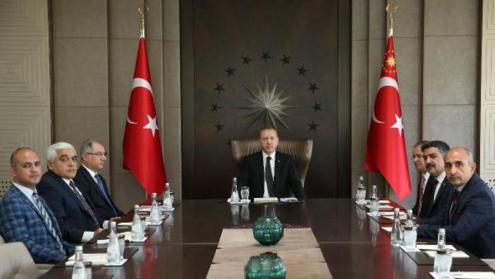 Cumhurbaşkanı Kilis Valisi ile Birarada