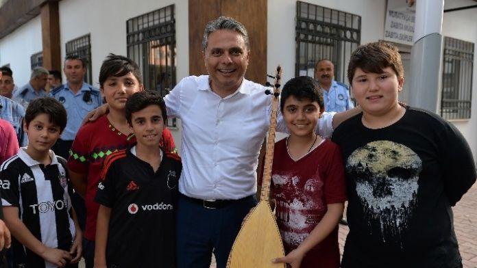 Başkan Uysal: Çocuklarımız sporla sanatla ilgilensin