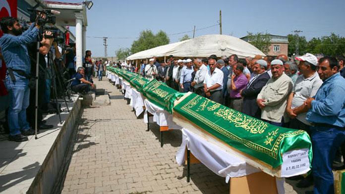 13 cenazenin toplam ağırlığı 60 kilogram