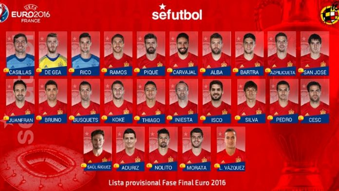 İspanya'dan süpriz kadro!