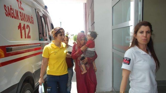 Yürürken Düşen Suriyeli Çocuk Hastaneye Kaldırıldı