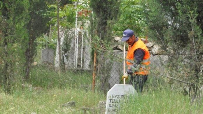 Dilovası'nda Mezarlıklar Temizleniyor
