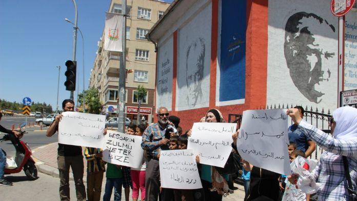 Suriyeli öğretmenlerden eylem