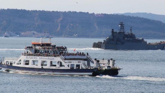 Rus Savaş Gemileri Çanakkale Boğazında