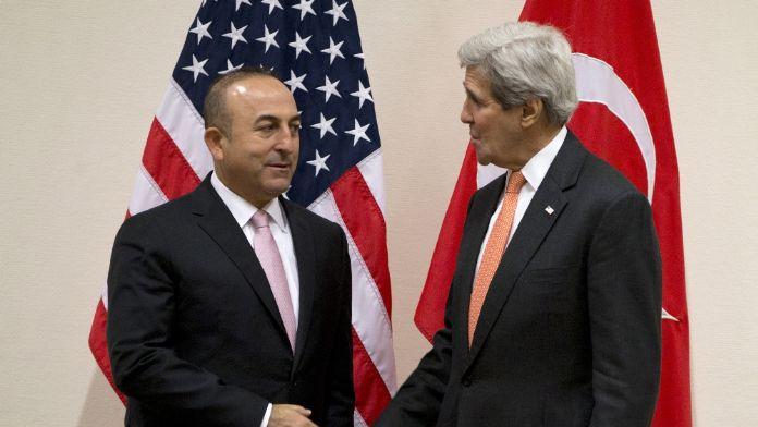 Çavuşoğlu John Kerry ile görüştü