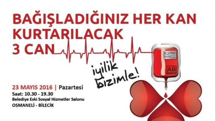 Osmaneli'nde Kan Bağışı Kampanyası Düzenlenecek