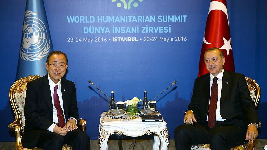 Erdoğan BM Sekreteri ile Görüştü